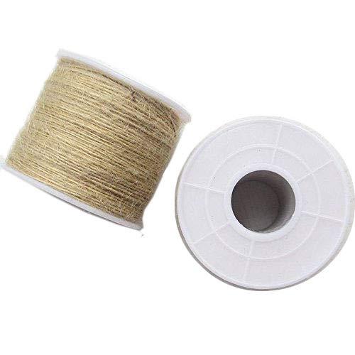 1Roll (100M) Twisted Burlap Jute Twine Rope Natural Hemp Linen Cord String