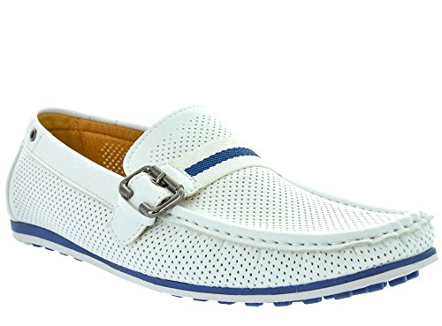 Mens White Casual Shoes - 1