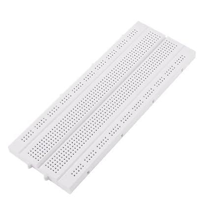 eDealMax Blanca 830 del Lazo del Punto de PCB placa sin soldadura de 170 mm x
