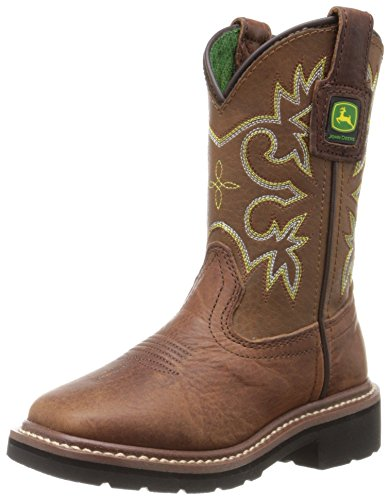 John Deere JD2342 Pull On Boot (Little Kid), Mesquite Leather, 2 M US Little Kid by John Deere