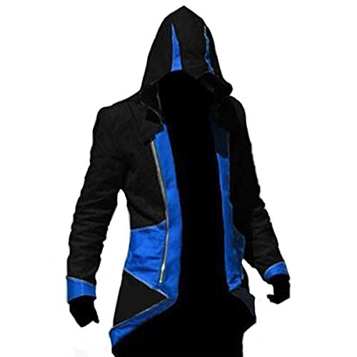 Cool Cosplay Costumes (Ainiel Unisex Anime Cosplay Custome Windbreaker Cool Long Sleeve Costume Jacket (Kids-size S, Blue and Black))