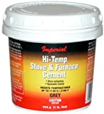 Imperial Mfg Group Usa KK0068-A Hi-Temperature Stove/Furnace Cement, Gray, 8-oz. - Quantity 12