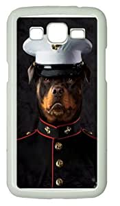 Marine Sarge Rottweiler Polycarbonate Hard Case Cover for Samsung Grand 2/7106 White by runtopwell