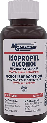 MG Chemicals 99.9% Isopropyl Alcohol Electronics Cleaner, 125 mL Liquid Bottle