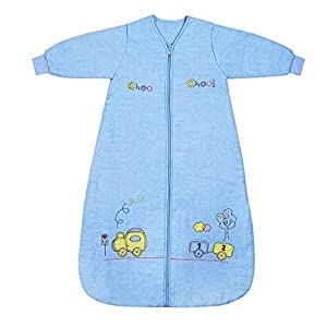 Slumbersac Winter Baby Sleeping Bag Long Sleeves approx 35 Tog Choo Choo various sizes from birth up to 6 years