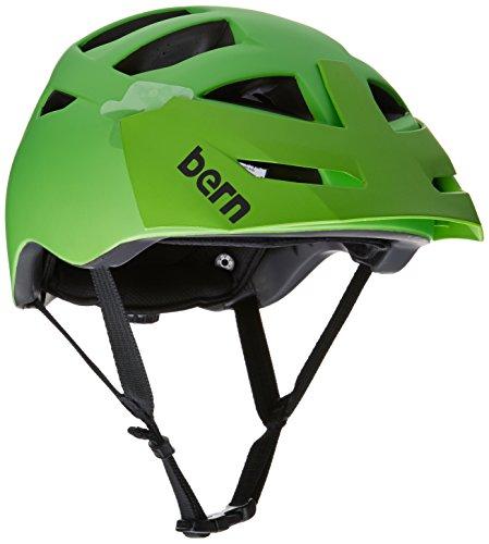 Bern Unlimited Morrison Helmet with Green Visor, Matte Neon Green, Large/X-Large