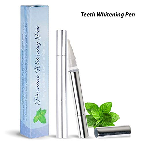 PREMIUM Hydrogen Peroxide Teeth Whitening Pen, Effective, Painless, No Sensitivity, Travel-Friendly, Easy to Use, Smart Whitener, Bright White Smile Pen W/Box & Shade Guide