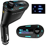 Findway® Multi-function Car Kit Mp3 Player Wireless Fm Transmitter Modulator Audio Aux USB Sd MMC Slot with Remote Blue LCD