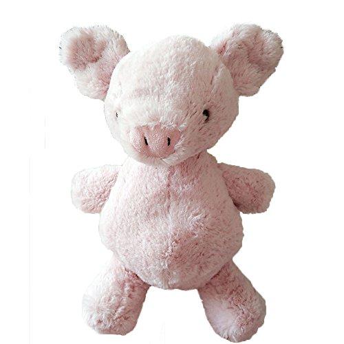 [Soft Animals Plush Toys Stuffed Pink Pig Baby Calm Stripe Doll Baby Kids Birthday Gift School Bag Portable] (Bag Of Trash Costume)