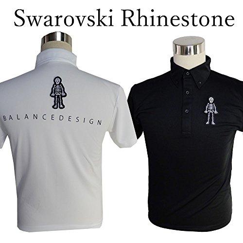 スワロフスキー社製高級ラインストーン スカルポロシャツ/S~5Lドクロポロシャツ【メンズ】【ゴルフウェア】大きいサイズ/golf/限定/お洒落/