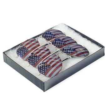 Goson American Flag Wayfarer Sunglasses Glasses Box Set