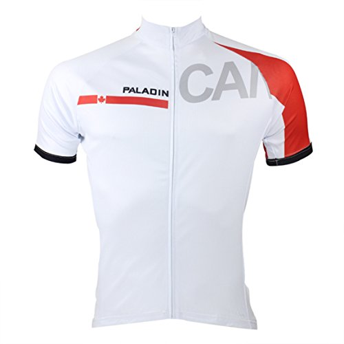 Men Reflective Quick-dry Breathable Short Sleeve Country style Cycling Jersey With Pockets White CA VT0NXCKHgO