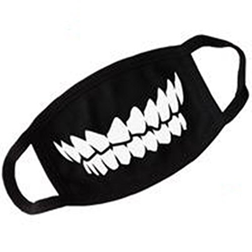 Unisex Black Teeth Anti Dust Face Mouth Mask Outdoor Anti-fog Mask Accessories (Face Masks Fancy Dress)