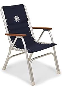 Awesome FORMA MARINE High Back Deck Chair, Boat Chair, Folding, Anodized, Aluminium,