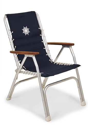 amazon com forma marine high back deck chair boat chair folding