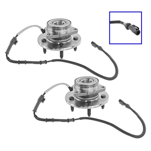 (Front Wheel Hub & Bearing Pair for 00-04 F150 Pickup Truck 4WD 4x4)