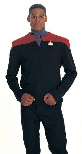 Commander Sisko Deep Space Nine Star Trek Uniform Costume Shirt (Red) - Adult Large
