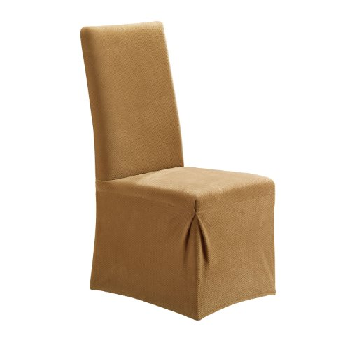 SureFit Stretch Pique - Dining Room Chair Slipcover - Antique (SF35576) ()