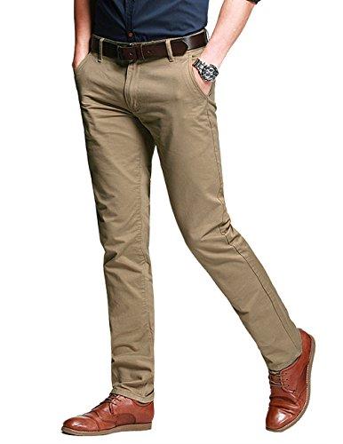 Slim Chino Khaki Match Homme Pantalon light 8025 Kaki Tapered 8025 Pale wAqRqdg