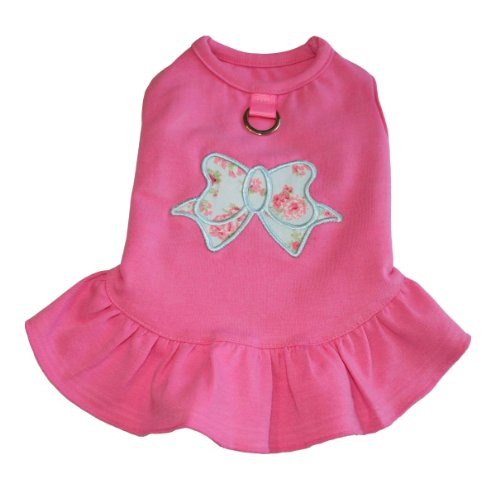 Gooby A-Line Bow Dress, Large, Pink, My Pet Supplies