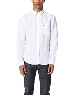 Men's Button Down Linen Shirt