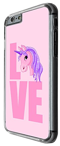 1411 - Cool Fun Trendy cute kwaii valentines day heart love quote unicorn love fantasy Design iphone 5C Coque Fashion Trend Case Coque Protection Cover plastique et métal - Clear