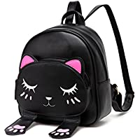 DIOMO Women Kids Backpacks For Girls Satchel Cartoon School Bag Cat Purse Travel Daypack