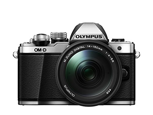 Olympus OM-D E-M10 Mark II Systemkamera Kit (16 Megapixel, 5-Achsen VCM Bildstabilisator, Sucher mit 2,36 Mio-OLED, Full-HD, WLAN, M.Zuiko Digital ED 14-150mm Objektiv, Metallgehäuse) silber