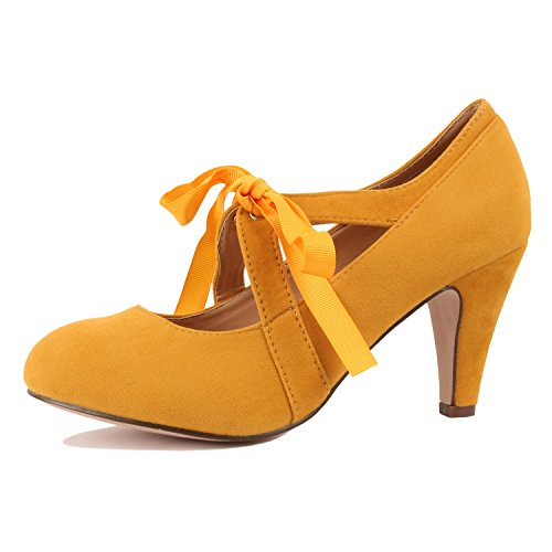 Guilty Heart | Kimmy-62 Yellow Suede, 6