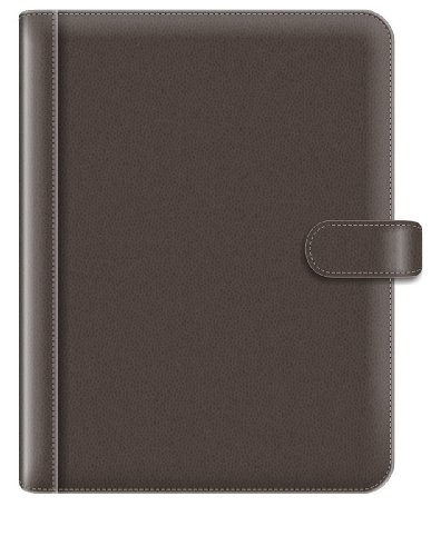 Pierre Belvedere A4/Letter Size Snap Portfolio, Refillable, Chocolate (676480)