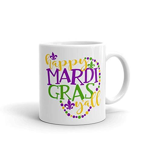 Custom Mug Happy Mardi Gras Coffee Mugs Fat Tuesday Lent Gift Mardi Gras Beads Tea Lover Mugs New Orleans Mug Louisiana Mug French -