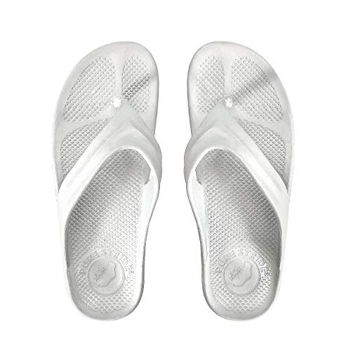 Pure Stride Orthotic Flip Flops for Plantar Fasciitis Metatarsal and Heel Spurs (M8/W9, (Best Pure Heel Supports)