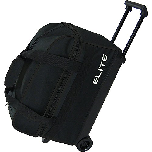 Elite Bowling Basic Double Roller Bowling Bag (Black)