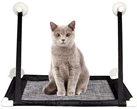 MAIKEHIGH Sunny Seat Window Cat Perch Mounted Cats Bed Hammock with Heavy Duty Suction Cups Holds Up To 20lbs, Easy To Install