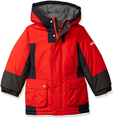 Osh Kosh Boys' Toddler Classic Heavyweight Active Parka, red, 3T