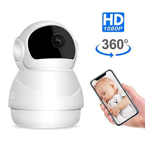Pet Camera, Nanny Cam, Wireless IP Camera, WiFi 1080P HD Indoor Home Security Camera with Two Way Audio and Video, Night Vision Camera for Dog/Cat/Elder/Baby Monitor, Pan/Tilt/Zoom Function (Ip Cam Security)