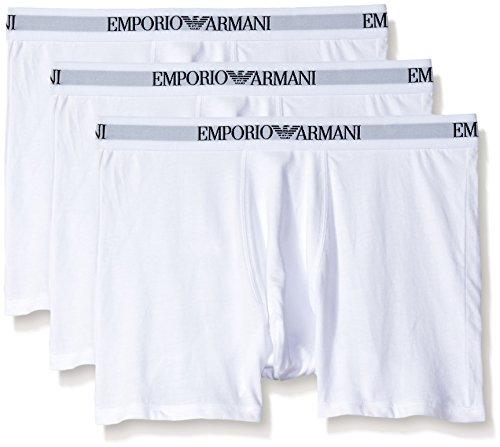 Emporio Armani White - Emporio Armani Men's Cotton Boxer Briefs, 3-Pack, New White, Medium