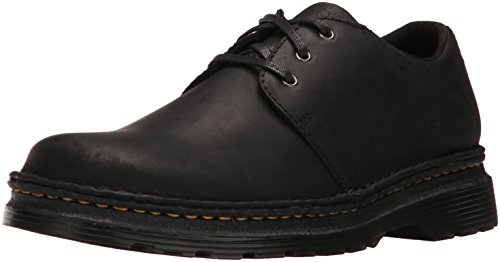 Dr.Martens Mens Hazeldon Kingdom Leather Shoes negro