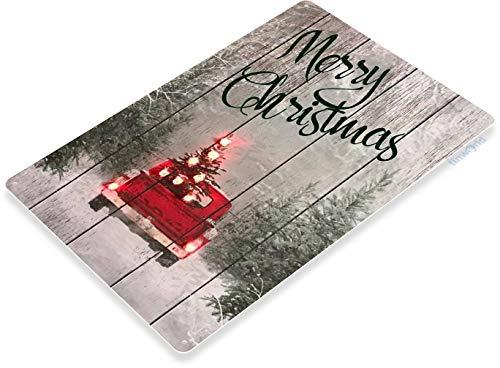 Tinworld TIN Sign B837 Merry Christmas Truck Art Holiday Decoration Metal Decor