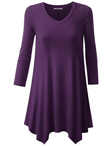 Womens 3/4 Length Sleeve T-shirt - 7