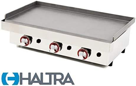 Haltra Plancha a Gas, 80PGH, Acero Laminado de 6 mm, Medidas 810x457x240 mm