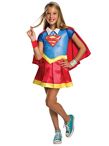 - 41QL06ZG85L - Rubie's Costume Kids DC Superhero Girls Deluxe Supergirl Costume