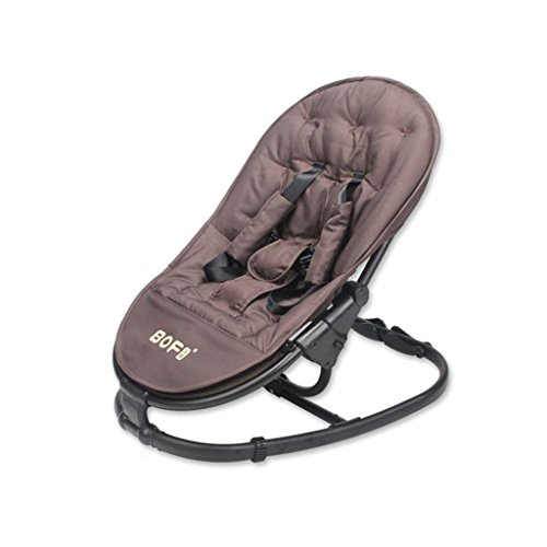 Baby Bouncer - Aluminum Alloy Baby Swing Chair And Cradle Baby Chair The Children's Bouncing Cradle Is Suitable For Newborns 0-24 Months,Brown