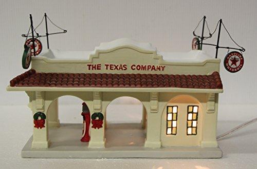 Texaco Service City Station Houston Texas ceramic lighted display 2001 ertle