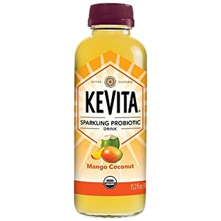 KEVITA Mango Coconut Cleansing Probiotic, 15.2 Ounce (Pack of 6)