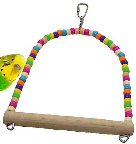 (Bonka Bird Toys 1324 Swing Bird Toy Parrot Cage Tiny Cages Parakeet Cockatiel Finch Lovebird Budgie Parakeets Perch Cockatiels Perches)