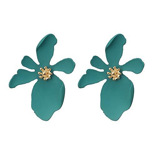 Clearance Deal! Hot Sale! Earring, Fitfulvan 2018 Fashion Jewelry Bohemia Flower Rhinestone Earrings For Women Summer Style Mother's Day Gifts Earrings Jewelry (Green-1)