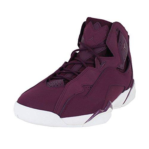 Men's Jordan True Flight Basketball Shoe, Bordeaux/Bordeaux-Sail 10