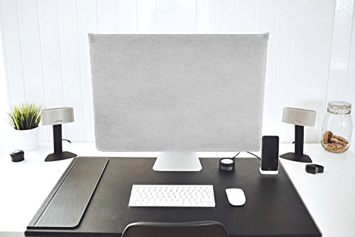 Lavolta Dust Cover for Apple iMac 27-inch - Screen Monitor Protector Guard for iMac 27'' Retina 5K and previous 27'' models & 27'' Thunderbolt Display - with Pocket for iMac Accessories by Lavolta (Image #2)