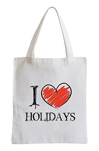 Amo Vacanze Fun sacchetto di iuta